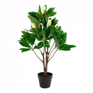 Planta artificiala verde din plastic 90 cm Magnolia House Nordic