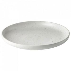Platou alb din ceramica 30 cm Forma Bolia