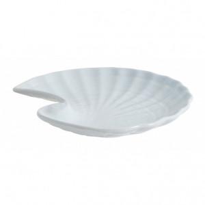 Platou albastru deschis din ceramica 16x18 cm Gullfoss Nordal