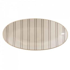 Platou crem din ceramica 21x43 cm Ava Bloomingville