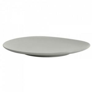 Platou gri din ceramica 35 cm Refine Biggest Nordal