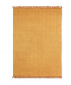 Pled galben mustar din lana si bumbac 120x180 cm Herringbone Ferm Living
