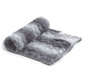 Pled gri din textil 130x160 cm Manta Rosanna Grey La Forma
