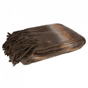 Pled maro din lana si fibre acrilice 130x170 cm Wrap Be Pure Home