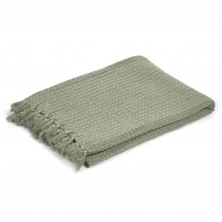 Pled verde din bumbac 130x170 cm Shallowy Kave Home
