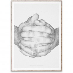 Poster cu rama stejar Folded Hands Original Paper Collective