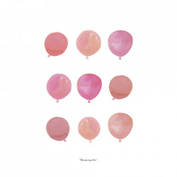 Poster roz din hartie 30x40 cm Baloons Bloomingville