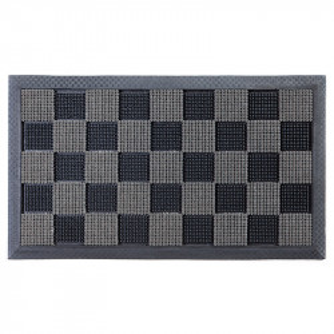 Pres dreptunghiular gri antracit din cauciuc si poliamida pentru intrare 40x60 cm PinPin Lako