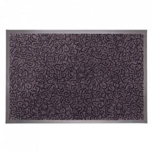 Pres dreptunghiular gri din poliamida pentru intrare 60x90 cm Solero Lako