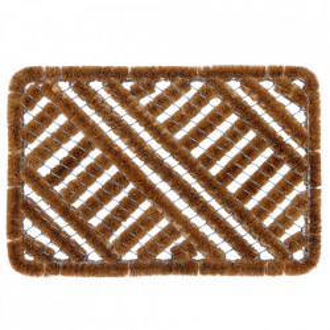 Pres dreptunghiular maro din fibre de cocos pentru intrare 45x75 cm Cocofer Lako