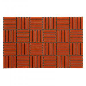 Pres dreptunghiular maro din poliamida pentru intrare 40x60 cm Gum Lako