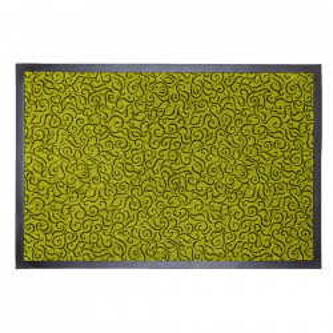 Pres dreptunghiular verde din poliamida pentru intrare 60x90 cm Solero Lako