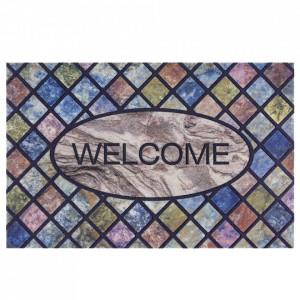 Pres multicolor dreptunghiular pentru intrare din polipropilena 45x70 cm Napoli The Home