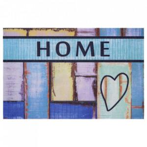 Pres multicolor dreptunghiular pentru intrare din polipropilena 45x70 cm Love The Home