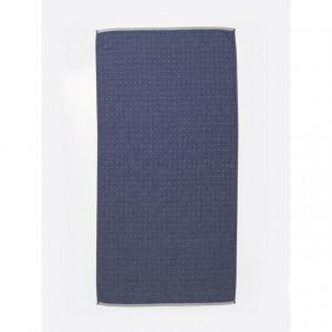 Prosop din bumbac albastru 70x140 cm Sento Ferm Living