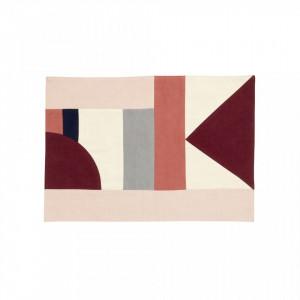 Protectie masa dreptunghiulara multicolora din bumbac 33x48 cm Patchwork Rose Mix Nordal