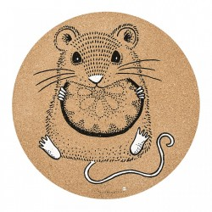 Protectie masa maro din pluta 37 cm Mouse Bloomingville Mini