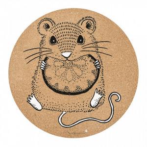 Protectie masa maro din pluta 37 cm Mouse Bloomingville