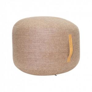 Puf rotund maro din lana 50 cm Round Herringbone Hubsch