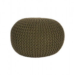 Puf rotund verde army din bumbac 50 cm Andrew LABEL51