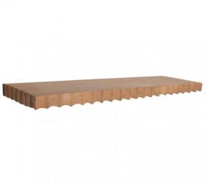 Raft maro din lemn de tec 60 cm Aeolian Raw Materials