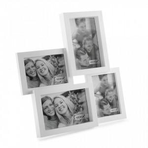 Rama foto alba din polipropilena 31x32,5 cm pentru 4 fotografii White Frame Versa Home