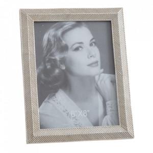 Rama foto argintie din polirasina 19x23 cm Iraklo Ixia