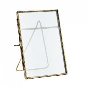 Rama foto maro alama din fier si sticla 10x15 cm Fiona Madam Stoltz