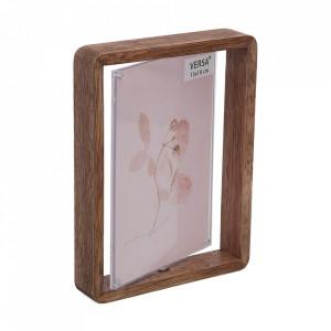 Rama foto maro din lemn 15x20 cm Versa Home