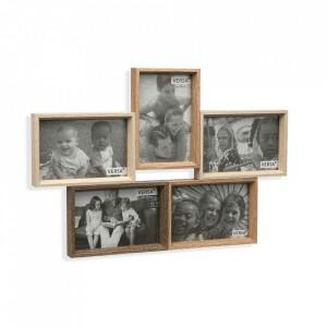 Rama foto maro din lemn pentru 5 fotografii 30x43 cm Noah Versa Home