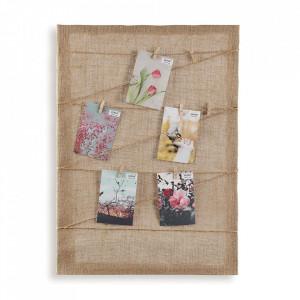 Rama foto maro din textil si lemn 50x70 cm Alex Versa Home