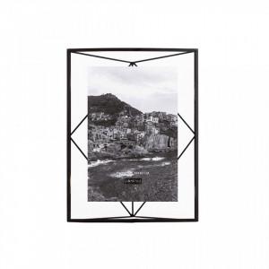 Rama foto neagra din metal si sticla 25x35 cm Nuri Black LifeStyle Home Collection