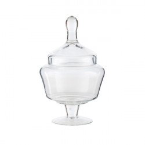 Recipient cu capac transparent din sticla 17x28 cm Lady LifeStyle Home Collection