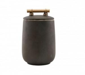 Recipient maro din ceramica cu capac 1,3 L Diva House Doctor