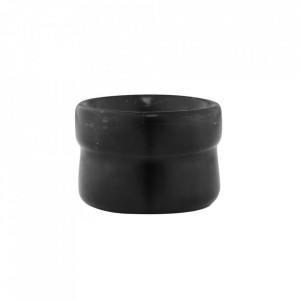 Recipient negru din marmura 4x6 cm Craft Normann Copenhagen
