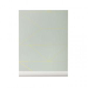 Rola tapet 53x1000 cm Lines verde menta Ferm Living