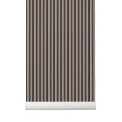 Rola tapet bordo/gri 53x1000 cm Thin Lines Ferm Living