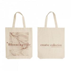 Sacosa alba din bumbac Creative Bloomingville