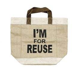 Sacosa maro din iuta I am for reuse Nordal