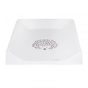 Saltea alba din PVC pentru masa de infasat 50x70 cm Hedgehog Quax