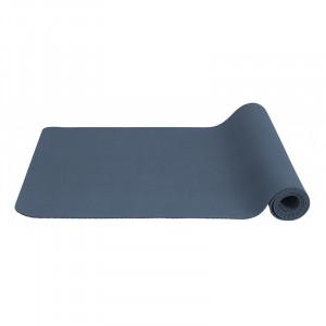 Saltea antiderapanta albastra din cauciuc pentru fitness 60x173 cm Yoga Nordal