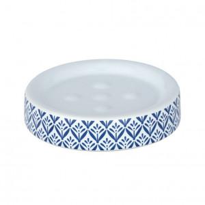 Savoniera alba/albastra din ceramica 2,5x11 cm Lorca Wenko