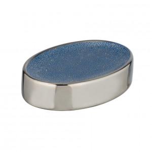 Savoniera albastra/argintie din ceramica 3x12 cm Nuria Wenko