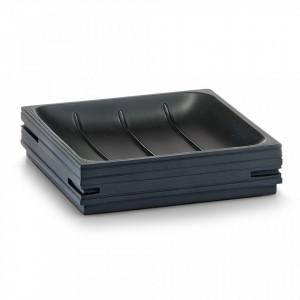 Savoniera neagra din polirasina 2,6x11,2 cm Slate Dish Zeller