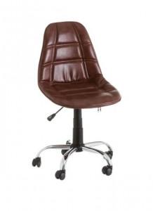 Scaun ajustabil maro din piele ecologica pentru birou Studio Brown Unimasa
