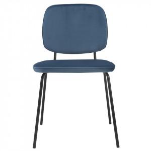 Scaun albastru din catifea Clyde Zago