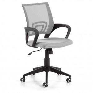 Scaun birou ajustabil cu roti plastic negru/gri Ebor La Forma