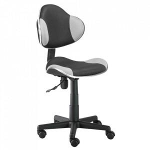 Scaun birou ajustabil gri/negru din textil si metal Q-G2 Signal Meble