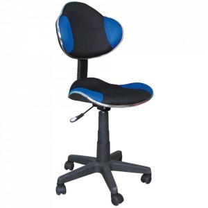 Scaun birou ajustabil negru/albastru din textil si metal Q-G2 Signal Meble