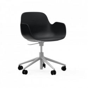 Scaun birou ajustabil rotativ negru/alb din polipropilena Form 5W Normann Copenhagen